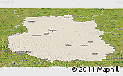 Shaded Relief Panoramic Map of Vinnyts'ka, satellite outside