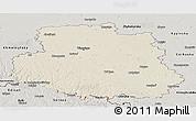 Shaded Relief Panoramic Map of Vinnyts'ka, semi-desaturated