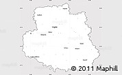 Silver Style Simple Map of Vinnyts'ka, cropped outside