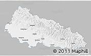 Gray 3D Map of Zakarpats'ka, single color outside