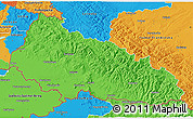 Political 3D Map of Zakarpats'ka
