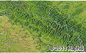 Satellite 3D Map of Zakarpats'ka