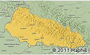 Savanna Style 3D Map of Zakarpats'ka