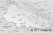 Silver Style 3D Map of Zakarpats'ka