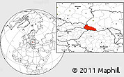 Blank Location Map of Zakarpats'ka
