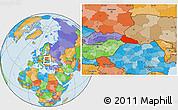 Political Location Map of Zakarpats'ka