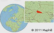 Savanna Style Location Map of Zakarpats'ka