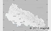 Gray Map of Zakarpats'ka, single color outside