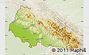 Physical Map of Zakarpats'ka, lighten