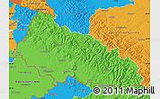 Political Map of Zakarpats'ka