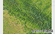 Satellite Map of Zakarpats'ka