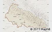 Shaded Relief Map of Zakarpats'ka, lighten