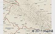 Shaded Relief Map of Zakarpats'ka