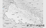 Silver Style Map of Zakarpats'ka