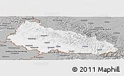 Gray Panoramic Map of Zakarpats'ka