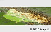 Physical Panoramic Map of Zakarpats'ka, darken
