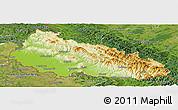 Physical Panoramic Map of Zakarpats'ka, satellite outside