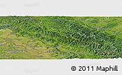 Satellite Panoramic Map of Zakarpats'ka