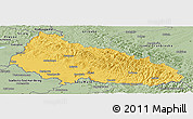 Savanna Style Panoramic Map of Zakarpats'ka