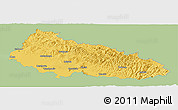 Savanna Style Panoramic Map of Zakarpats'ka, single color outside