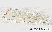 Shaded Relief Panoramic Map of Zakarpats'ka, lighten