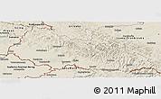 Shaded Relief Panoramic Map of Zakarpats'ka