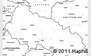 Blank Simple Map of Zakarpats'ka