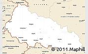 Classic Style Simple Map of Zakarpats'ka
