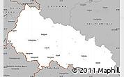 Gray Simple Map of Zakarpats'ka