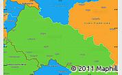 Political Simple Map of Zakarpats'ka