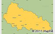 Savanna Style Simple Map of Zakarpats'ka, cropped outside