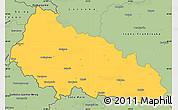 Savanna Style Simple Map of Zakarpats'ka