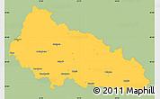 Savanna Style Simple Map of Zakarpats'ka, single color outside