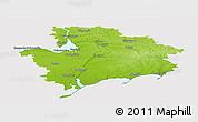 Physical Panoramic Map of Zaporiz'ka, cropped outside