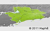 Physical Panoramic Map of Zaporiz'ka, desaturated