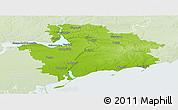Physical Panoramic Map of Zaporiz'ka, lighten