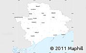 Silver Style Simple Map of Zaporiz'ka, single color outside
