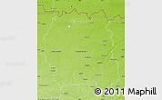 Physical Map of Zhytomyrs'ka
