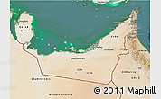 Satellite 3D Map of United Arab Emirates