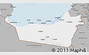 Gray 3D Map of Abu Dhabi