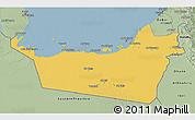 Savanna Style 3D Map of Abu Dhabi