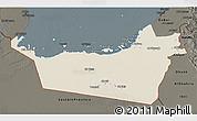 Shaded Relief 3D Map of Abu Dhabi, darken