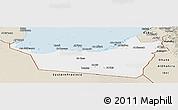Classic Style Panoramic Map of Abu Dhabi