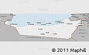 Gray Panoramic Map of Abu Dhabi