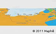 Political Panoramic Map of Abu Dhabi