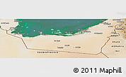 Satellite Panoramic Map of Abu Dhabi