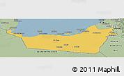 Savanna Style Panoramic Map of Abu Dhabi