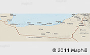 Shaded Relief Panoramic Map of Abu Dhabi