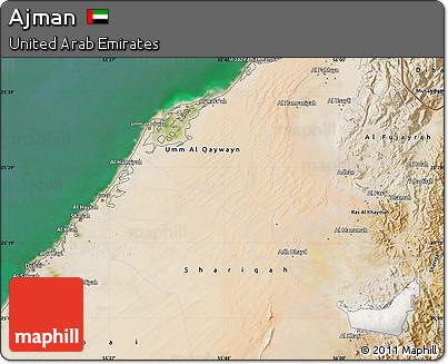 Free Satellite Map of Ajman