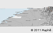 Gray Panoramic Map of Ajman